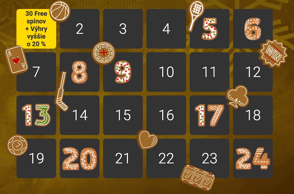 Vianočný kalendár Fortuna Casino