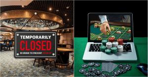 Kamenné kasína zatvárajú, online kasína ostávajú otvorené
