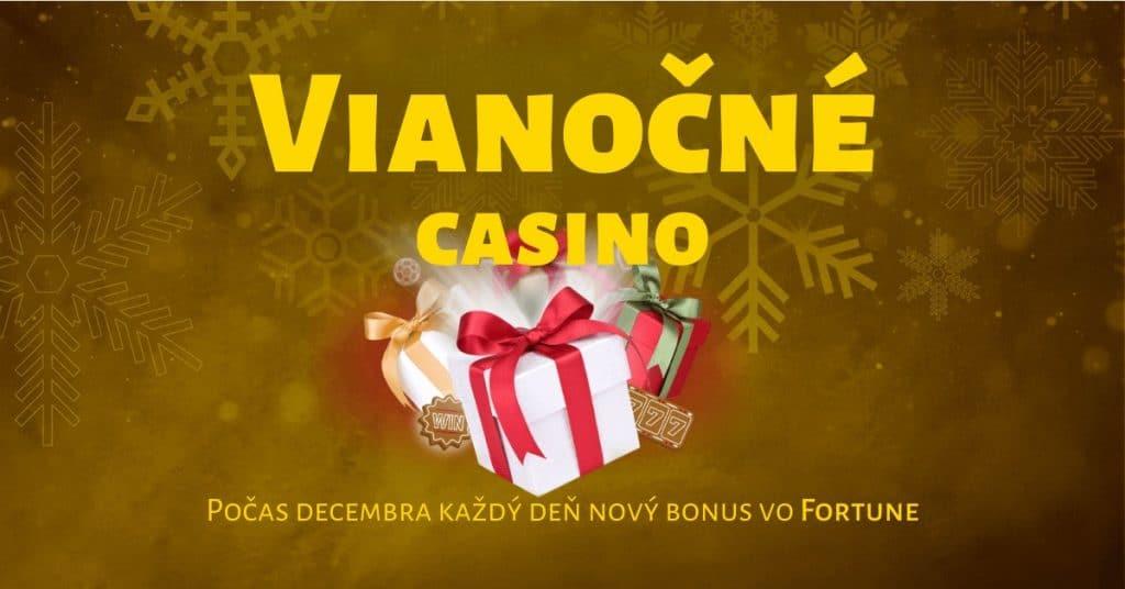 Štedrý december vo Fortuna Casino - každý deň nový bonus