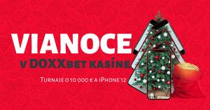 Vianoce v DOXXbet Kasíno: Hrajte o 10 000 € a nový iPhone 12