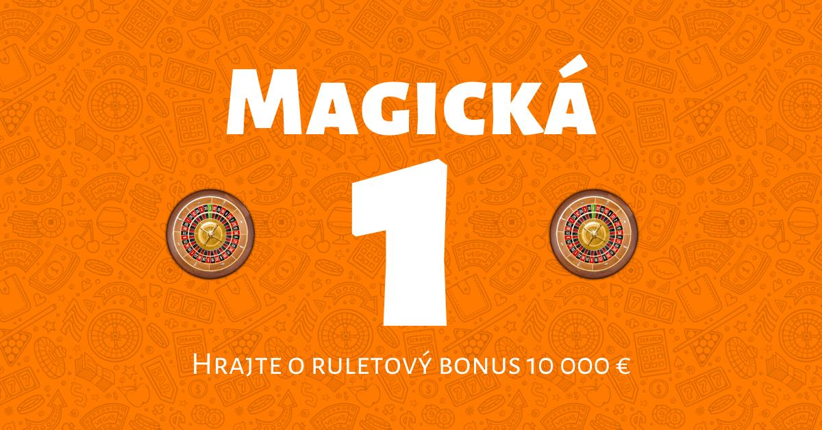 Magická 1 v Niké Svet hier: Hrajte o ruletový bonus 10-tisíc €