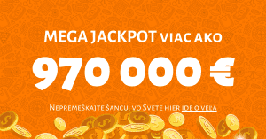 MEGA JACKPOT v Niké Svet hier - hrá sa o takmer milión eur