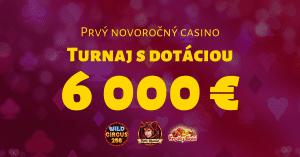 Prvý novoročný 2021 kasíno turnaj v SYNOTtip Casino