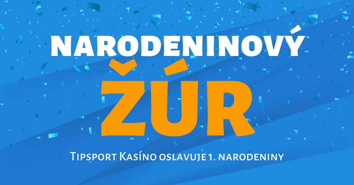 Tipsport Kasíno oslavuje 1. narodeniny: Free spiny pre každého