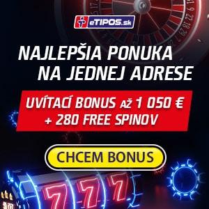 eTIPOS Kasíno uvítací bonus
