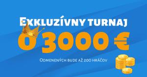 Exkluzívny turnaj o 3000 Eur v Tipsport Kasíno