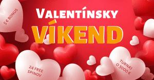 Valentínsky víkend v Tipsport Kasíno: Získajte 24 free spinov + bonus 5 €
