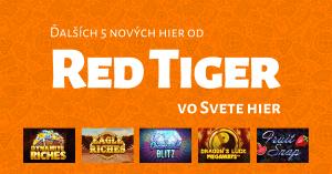 Do ponuky kasína Niké Svet hier pribudli ďalšie hry od Red Tiger