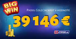 V eTIPOS kasíne padol Zlatý Multilevel jackpot v hodnote 39 146 €