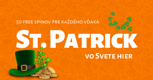 St. Patrick v Niké Svet hier - 50 free spinov pre každého