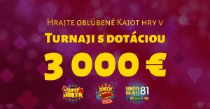 Šiesty kasíno turnaj v SYNOTtip Casino o 3000 €