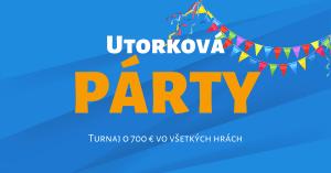 Utorková párty - turnaj v Tisport Kasíno