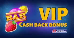 V eTIPOS kasíne na vás čaká VIP cashback bonus každý deň až 430 € a 20 free spinov