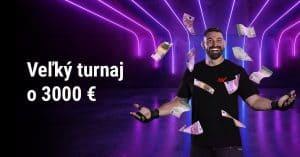 Veľký turnaj o 3000 € v DOXXbet Kasíno