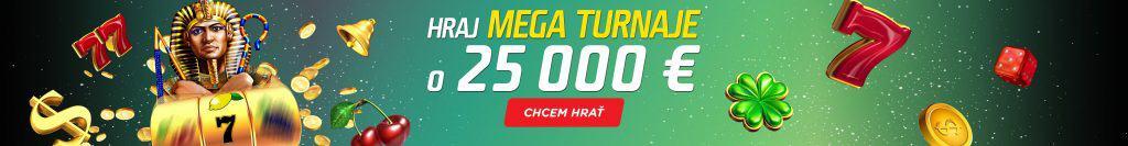 Mega turnaj v eTIPOS Kasíno o 25 000 €