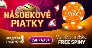 Násobkové piatky v kasíne Niké Svet hier