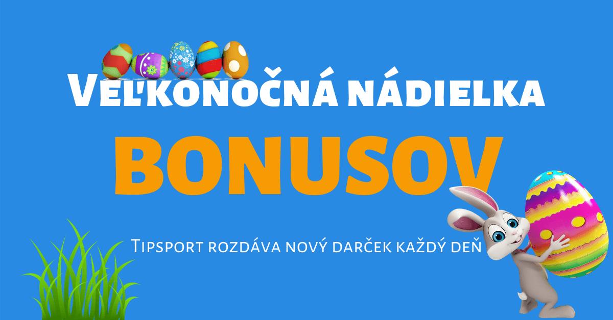 Veľkonočná nádielka bonusov v Tipsport Kasíno