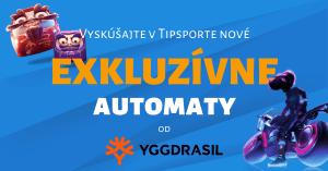 Nové exkluzívne automaty od Yggdrasil Gaming v Tipsport Kasíno