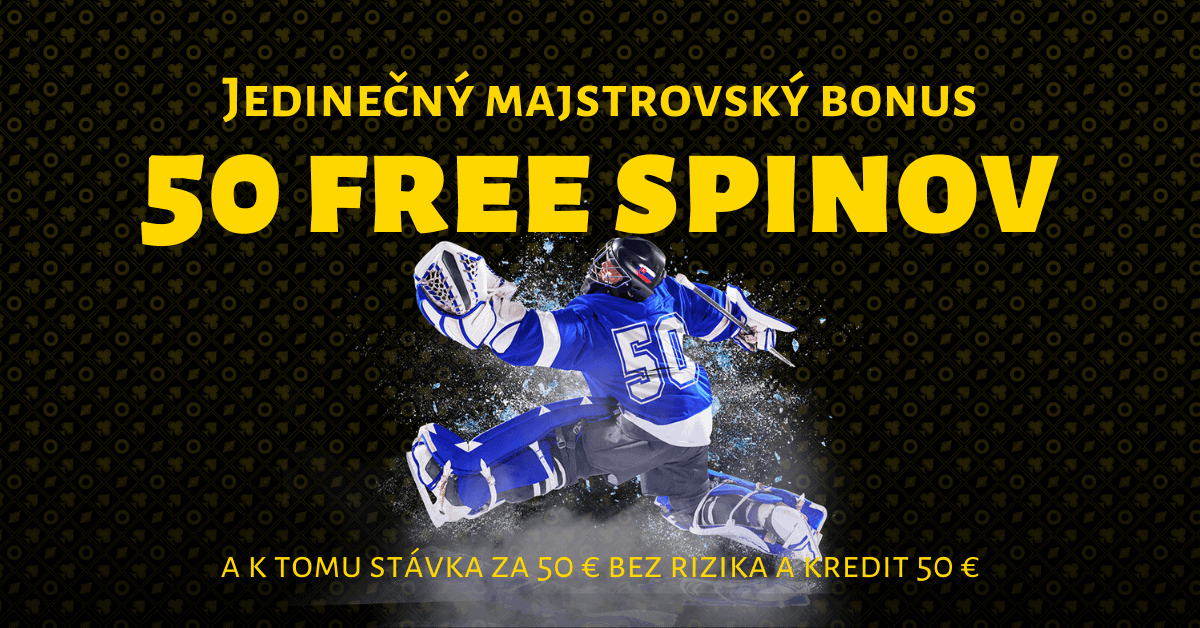 50 free spinov, majstrovský bonus vo Fortuna Casino