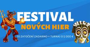 Festival nových hier v Tipsport kasíno