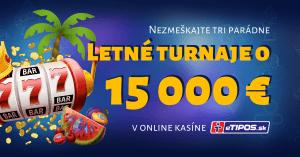Letné turnaje v eTIPOS kasíne