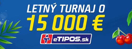 eTIPOS kasíno letné turnaje - promoakcia dňa
