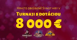 Turnaj v Synot Games hrách v SYNOTtip Casino o 8000 €