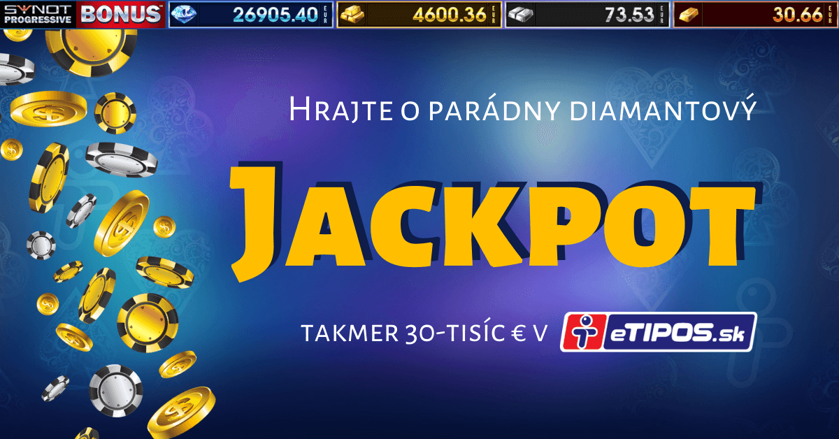 Diamantový SYNOT progressive jackpot v eTIPOS kasíne
