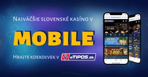 eTIPOS kasíno v mobile