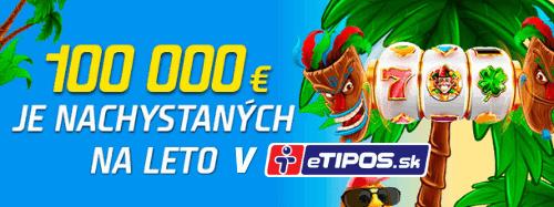 Letná kasíno liga v eTIPOS - promoakcia dňa