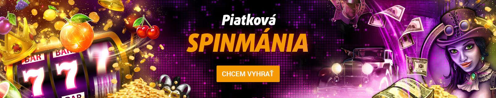 Piatková spinmánia v Tipsporte - banner