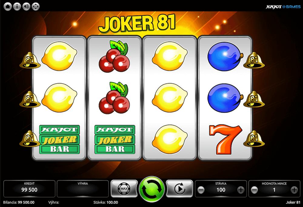 Joker 81 - rozšírenie počtu výherných línií