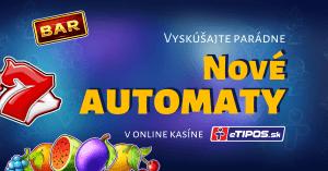 5 nových online automatov v kasíne eTIPOS.sk
