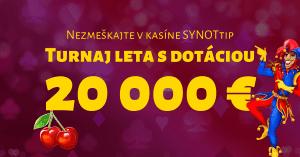 Turnaj leta o 20 000 € v online kasíne SYNOTtip