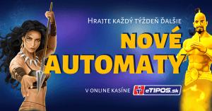 Každý utorok nové online automaty v kasíne eTIPOS.sk