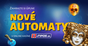 Každý utorok nové automaty v online kasíne eTIPOS