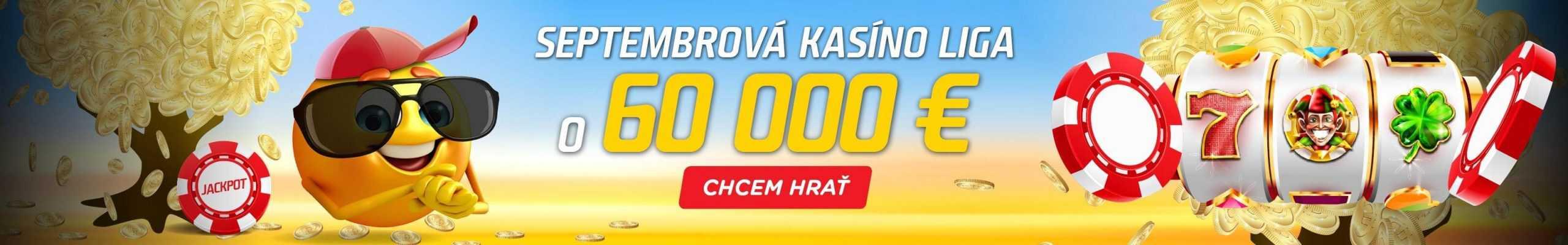 Septembrová kasíno liga v eTIPOS.sk - banner