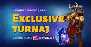 Exclusive turnaj o 5000 € v Kajot hrách - eTIPOS kasíno