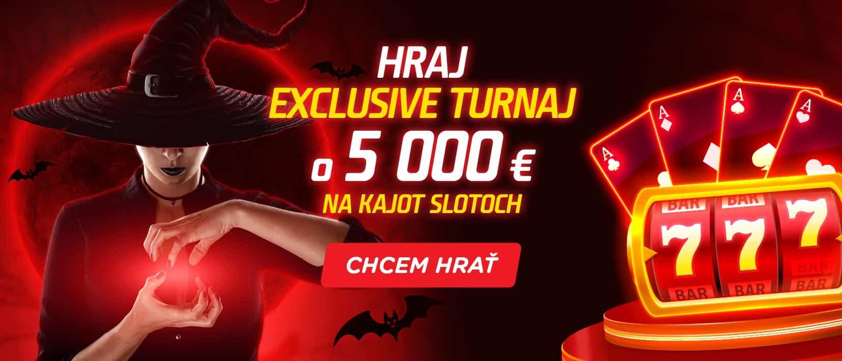 Exclusive turnaj v Kajot slotoch v eTIPOS kasíne - banner