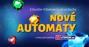 Nové hry v eTIPOS.sk kasíne
