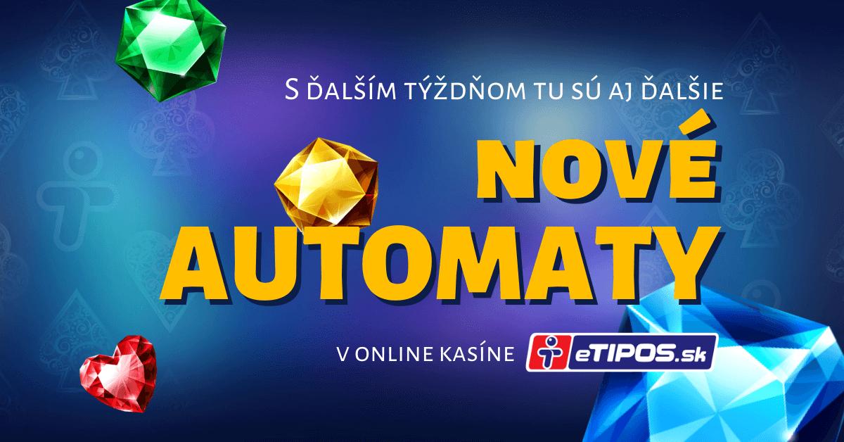 Je tu ďalší týždeň a s ním aj nové casino hry v eTIPOS online kasíne