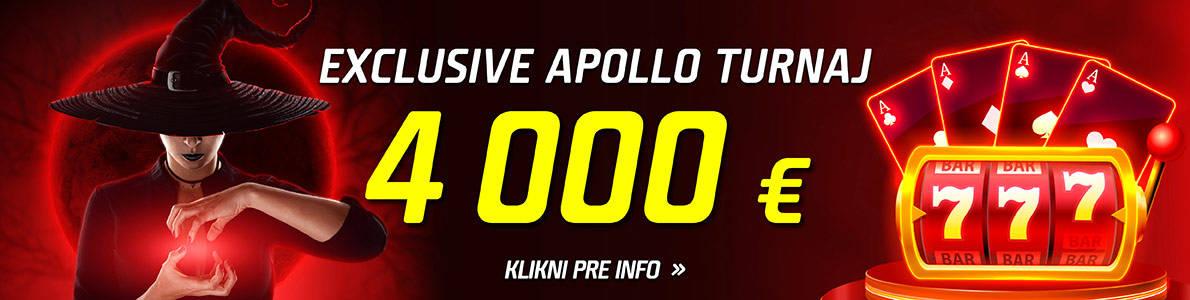 Exclusive Apollo turnaj o 4000 € v eTIPOS kasíne - banner