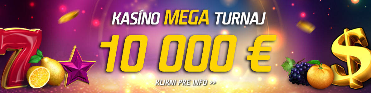 Kasíno MEGA turnaj v eTIPOS - banner