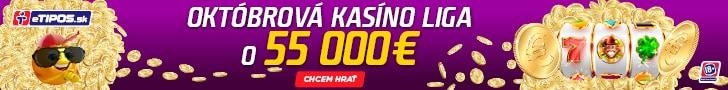 eTIPOS Kasíno Októbrová liga o 55 000 €