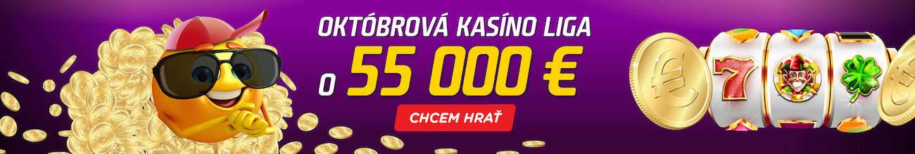 Októbrová kasíno liga v eTIPOS kasíne - banner