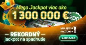 Rekordný MEGA Jackpot v kasíne Svet hier je na spadnutie