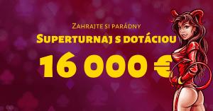 Superturnaj o 16 000 € v SYNOTtip Casino