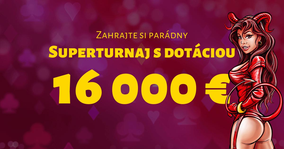 Superturnaj s dotáciou 16 000 € jedine v SYNOTtip Casino